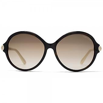 Tom Ford Milena Sunglasses In Havana Ivory Brown
