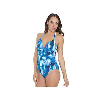 Seaspray SY007033 Women's Blue Tie-Dye Costume One Piece Swimsuit