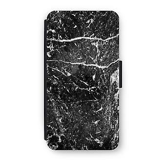 Huawei P9 Flip Case - mármol negro