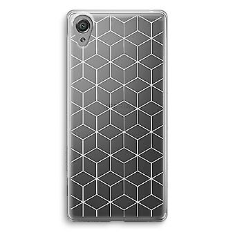Sony Xperia XA1 Transparent Case - Cubes black and white