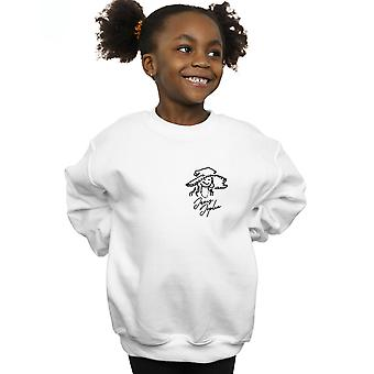 Janis Joplin Girls Outline Sketched Sweatshirt