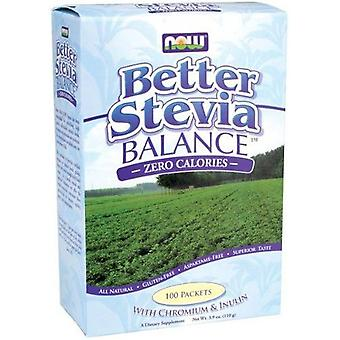 Now Foods Better Stevia Balance With Inulin And Chromium 100 Packets (Diet , Sweeteners)