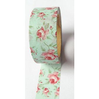 Washi Tape 20Mm X 10M Aqua Antique Floral Lmt20x10 369