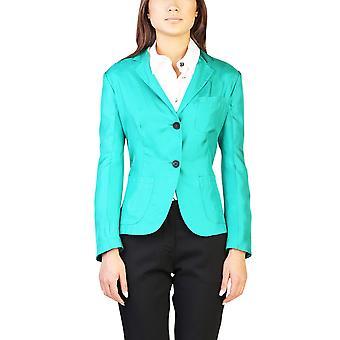 Seda brillante chaqueta verde Prada mujer