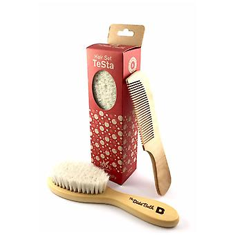 The Dida Testa.Wood Brush And Comb Set
