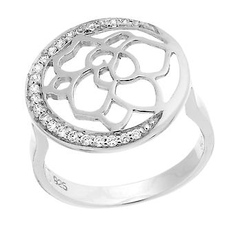 Orphelia Silver 925 Ring Flower  Zirconium   ZR-7089