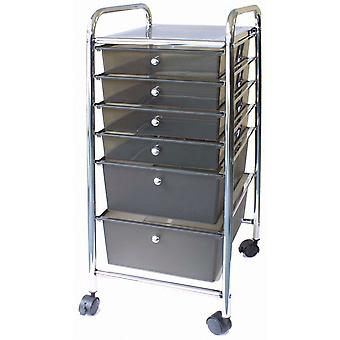 Storage Studios Home Center Rolling Cart W/6 Drawers-15.25
