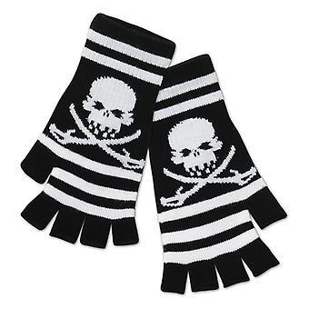 Skull and crossbones gloves pirates gloves
