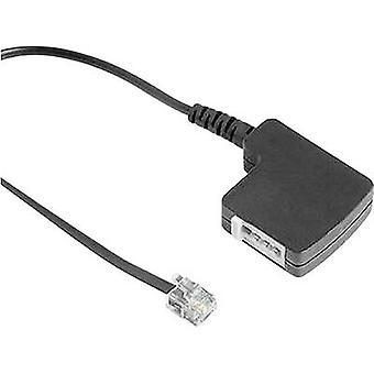 Hama Phone Adapter [1x RJ11 6p4c plug - 1x TAE-F connector] 0.20 m Black