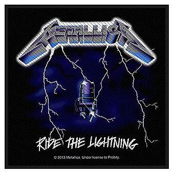 Metallica Ride The Lightning Black Sew-On Cloth Patch 100Mm X 95Mm