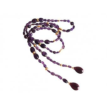 Amethyst chain BELMA Amethyst chain necklace for ladies gold plated