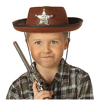 Cowboy hat Brown Kids costume accessory Western Sheriff Hat