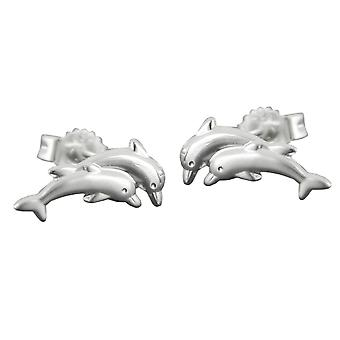 11mm dolphin 925 silver Earstuds