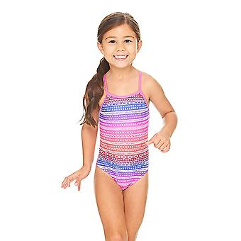 Zoggs Ikat Yaroomba Floral Swimsuit in Pink / Multi Colour - Chlorine Proof Elastomax Fabric