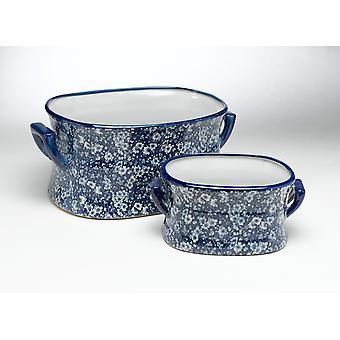 AA import 59712 blå og hvite fotbad - sett 2
