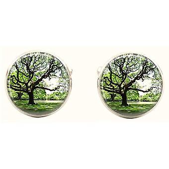 Bassin e marrone tondo albero gemelli - verde/marrone