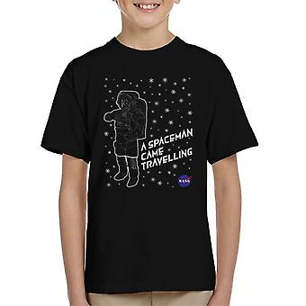 NASA Christmas A Spaceman Came Travelling Kid's T-Shirt
