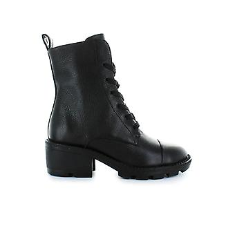 KENDALL AND KYLIE BLACK LEATHER PARK BOOT