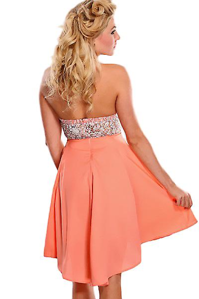 Waooh - Fashion - Short strapless Lace Dress