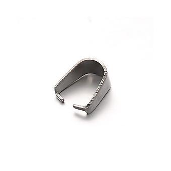 10 x 银色线304不锈钢椭圆形弹簧夹带 8 x 10mm y04265