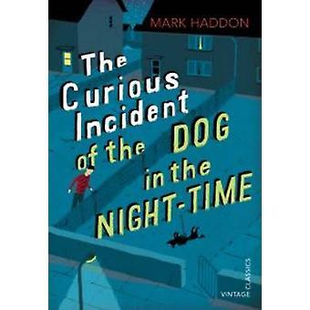 Hændelsen nysgerrig hund i nat-time - Vintage børns