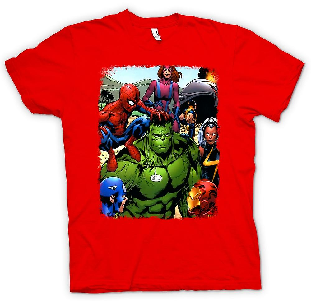 Herren T-Shirt - Hulk Spiderman Iron Man