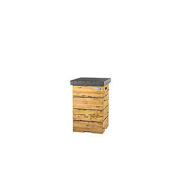 Happy Cocooning Driftwood bijzettafel LPG 41x41xH62 cm - antraciet