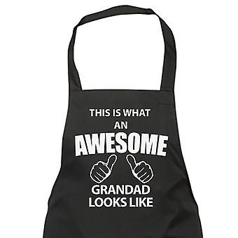 This Is What An Awesome Grandad Looks Like Black Apron