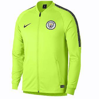2018-2019 man City Nike Squad Track Jacket (Volt)