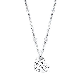 s.Oliver jewel ladies chain necklace silver heart 2024319