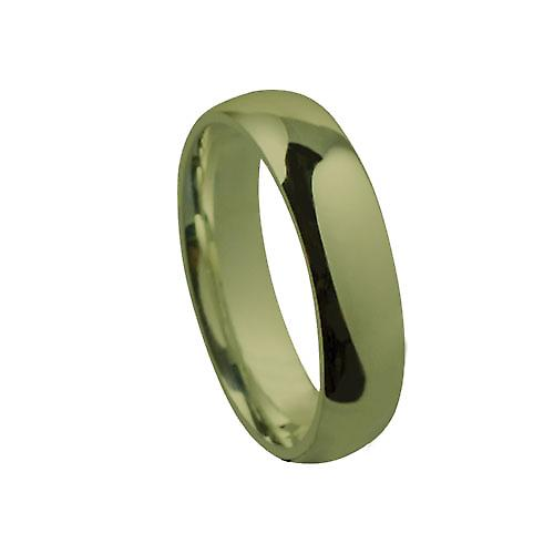 18ct Gold 6mm plain Court shaped Wedding Ring Size W