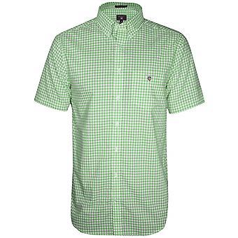 Gant GANT zwembad groen vinkje regelmatige korte-mouw Shirt