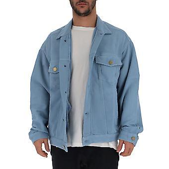 Laneus Light Blue Cotton Outerwear Jacket