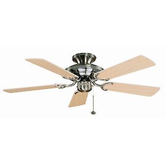 Ceiling Fan Mayfair Steel / Maple 107cm / 42