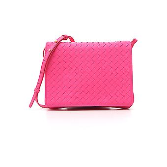 Bottega Veneta Fuchsia Leather Shoulder Bag