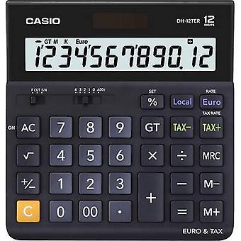 Desk Calculator Casio DH-12TER zwart display (cijfers): 12 zonne-energie, batterij-Powered (W x H x D) 151 x 29 x 159 mm