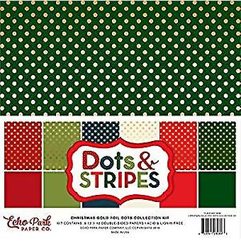 Echo Park Paper Christmas Gold Foil Dot 12x12 Inch Collection Kit (DSF16066)