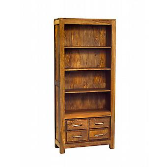 Nantes Solid Sheesham 4 Drawer Bookcase