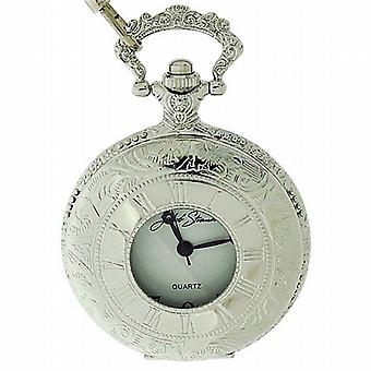 Jakob Strauss Open Window Gents Pocket Watch & 12 Inch Silver Tone Chain JAST13