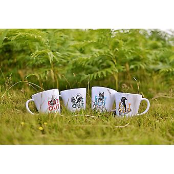 OLPRO EAT OUT Melamine set 8 Piece Camping Outdoor Dishwasher Safe Animal Print