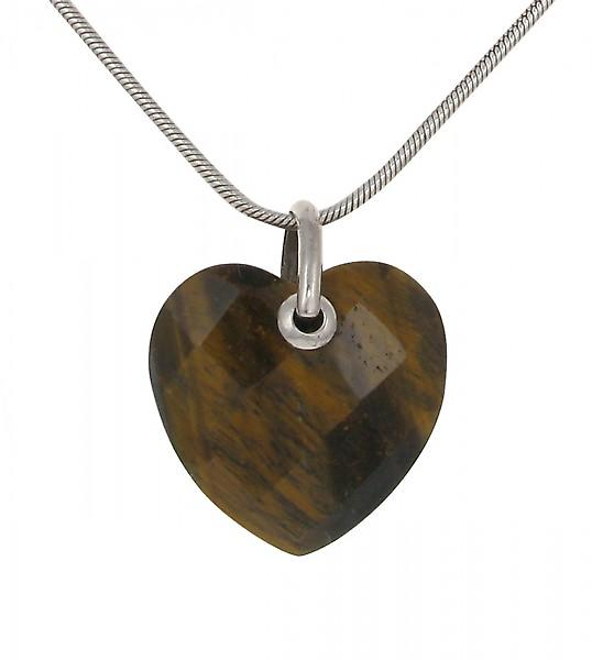 Cavendish French Sterling Silver and Tiger's Eye Heart