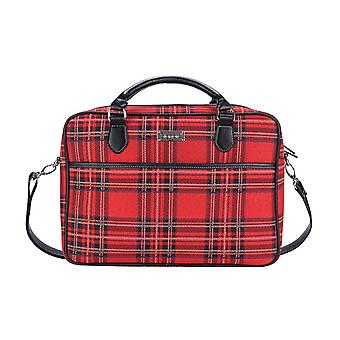 Royal stewart tartan computer bag by signare tapestry / 15.6 inch / cpu-rstt