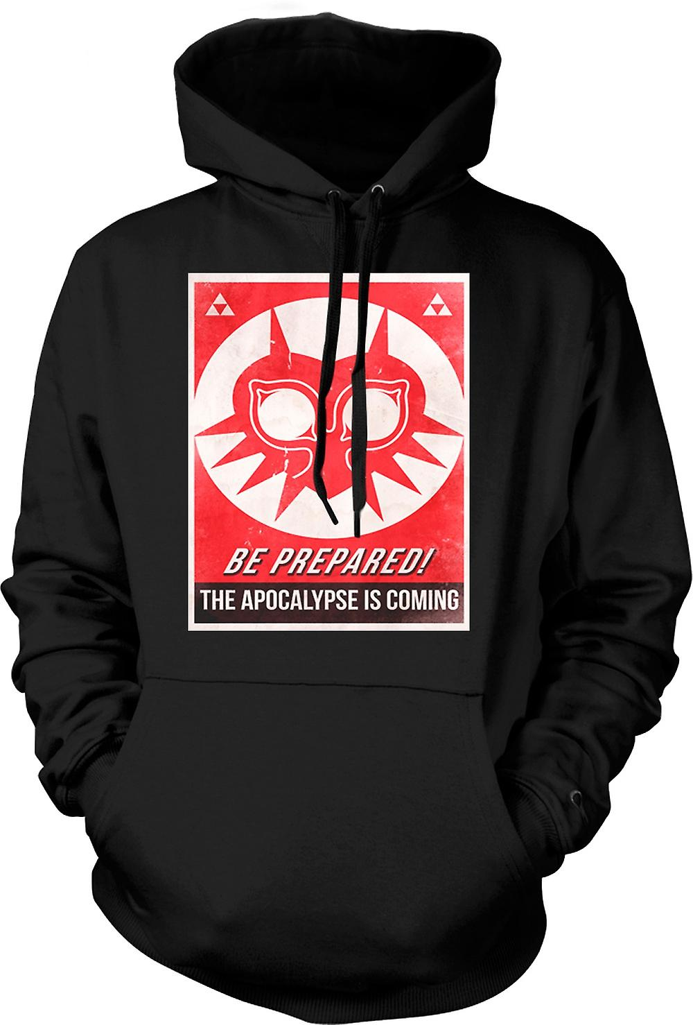 Mens Hoodie - Be Prepared, The Apocolypse Is Coming