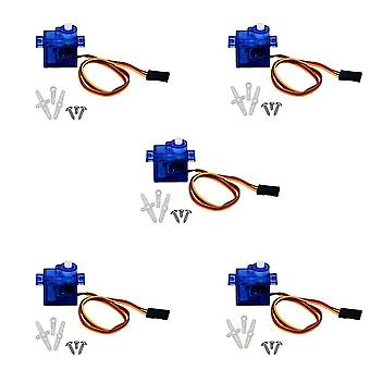 5 Pièces SG90 Servo 9G Micro Servo Motor pour RC Robot Helicopter Airplane Boat Controls
