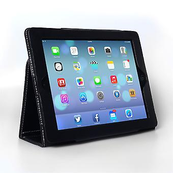 Caseflex iPad Air Textured Faux Leather Stand Cover Black