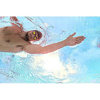 Zoggs Swimming Goggles Podium Mirror w/ Anti-Fog Lenses Black/Mirror - One Size
