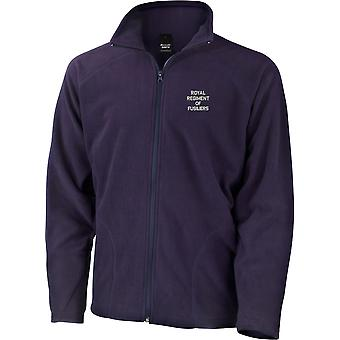 Royal Regiment Of Fusiliers Text - Licensed British Army Embroidered Lightweight Microfleece Jacket