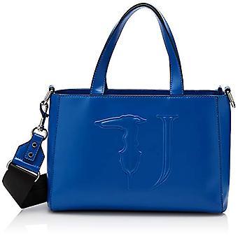 Trussardi Jeans T-Easy Tote Monocolor Bluette On Tone 30x12x21 cm (W x H x L)