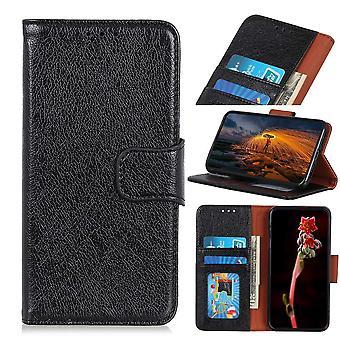Samsung Galaxy Note 10 portafoglio portafoglio caso Textured Split-Black