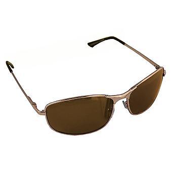 Sonnenbrille Sport Rechteck polarisierenglas goldbraun FREE BrillenkokerS304_6